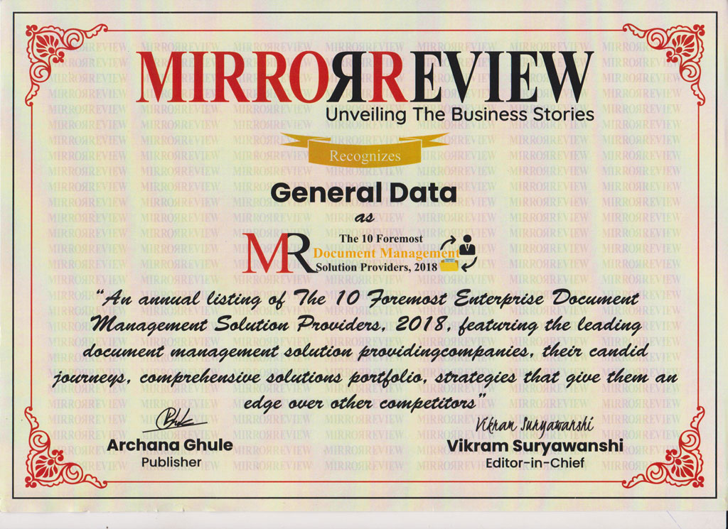 General Data gets featured in Mirror Review Magazine - The 10